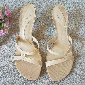 🦋 Gianni Bini Leather Slide Sandals 🦋